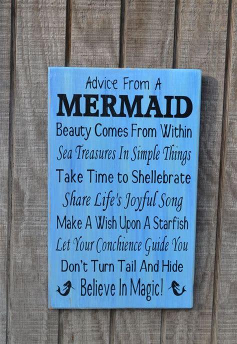 mermaid beach sign beach decor mermaids advice