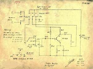 Hofner Guitar Treble Boost Schematic Diagram