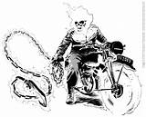 Rider Ghost Coloring Pages Ghostrider Colouring Printable Print Bike Drawing Motorcycle Boys Comic Designlooter Ghosts Books Drawings Demon Francesco 35kb sketch template
