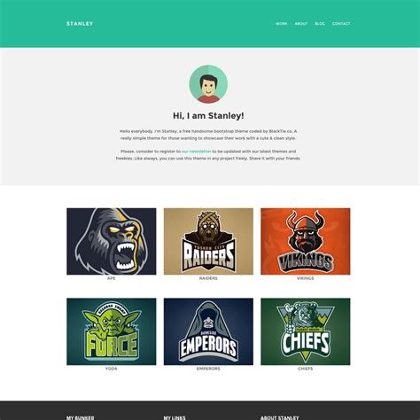 Free Responsive Templates Stanley Freelancer Free Responsive Bootstrap Website Template