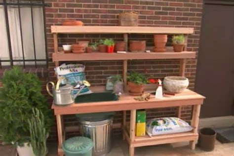 build  garden potting bench ron hazelton