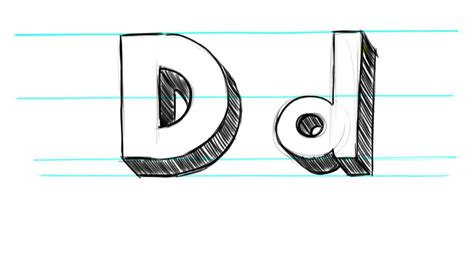 Uppercase D And Lowercase D In