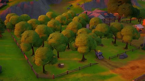 fortnite orchard location   consume foraged apples