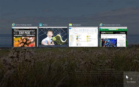 bureaux virtuels des bureaux virtuels avancés au menu de windows 10