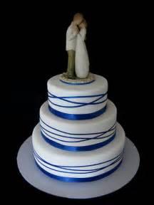 willow tree wedding cake topper royal blue wrapped ribbon wedding cake with willow tree
