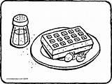 Kleurplaat Wafel Waffel Gaufre Kleurplaten Sucre Glace Kiddicolour Fraises Aardbeien Bloemsuiker Erdbeeren Waffeln Kiddimalseite Fruitschaal Kiddicoloriage Puderzucker Colorier Kleurprent Bakker sketch template