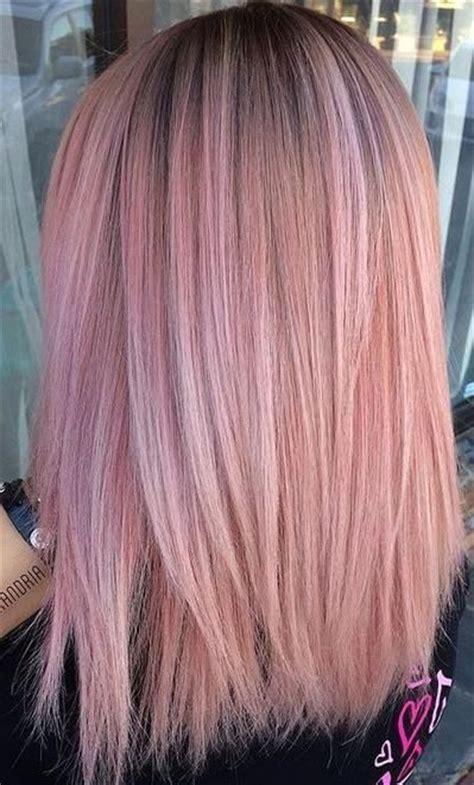 rose pink hair