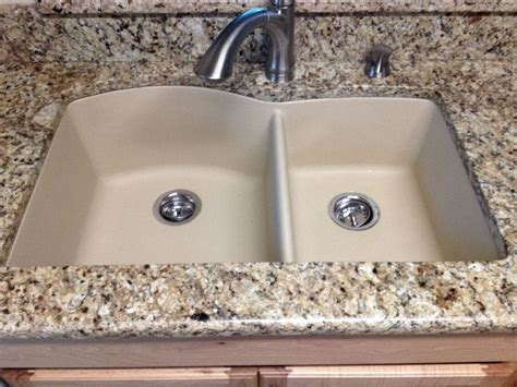 granite countertops with undermount sinks 60 40 granite composite kitchen sink compare to blanco