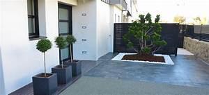 entree paysagee henri mignon paysagiste a lorient With amenager une entree exterieure de maison 15 prix dune terrasse beton