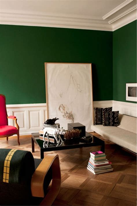 rich jewel tone emerald green wall paint pairs perfectly