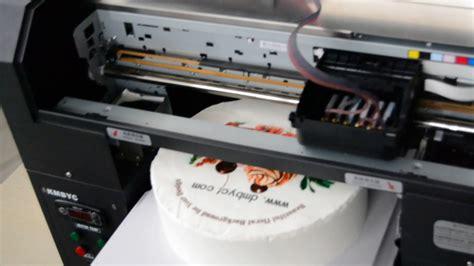 size foodcake edible printing machine video youtube