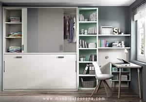 Dormitorios juveniles con camas abatibles para aprovechar bien el espacio Muebles Toscana