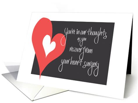 heart surgery recovery   thoughts  large heart card