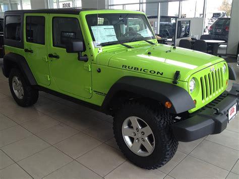 neon purple jeep gecko green jeep wrangler rubicon autos post