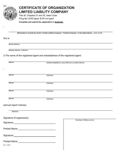 top  idaho secretary  state forms  templates