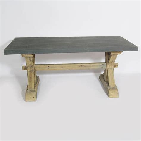table beton cire et bois table de lit