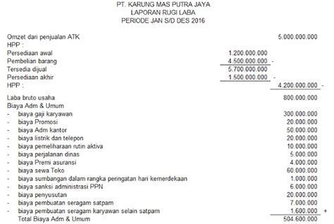 Contoh Lop Surat by Format Lop Laporan Spt Contoh Laporan Laba Rugi Perusahaan