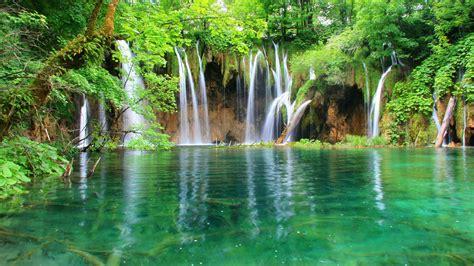 Plitvice Lakes National Park Waterfall In Croatia