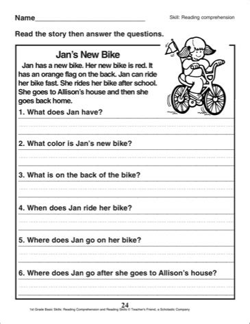 free picture comprehension worksheets for grade 2 2 grade reading comprehension worksheets worksheets for