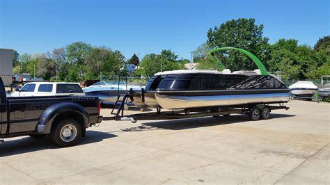 Awesome Tritoon Boats by Bennington Tri W Mercury 502 430 Hp I O