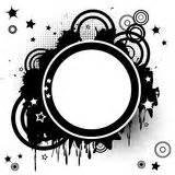 Abstract White Circle Black Background by Op Big Circles Alternate Pattern Light Blue Stock