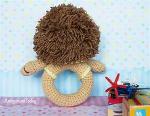 Lion Baby Rattle Crochet Pattern