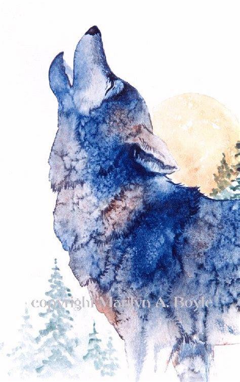 Best Watercolor Wolf Ideas Pinterest
