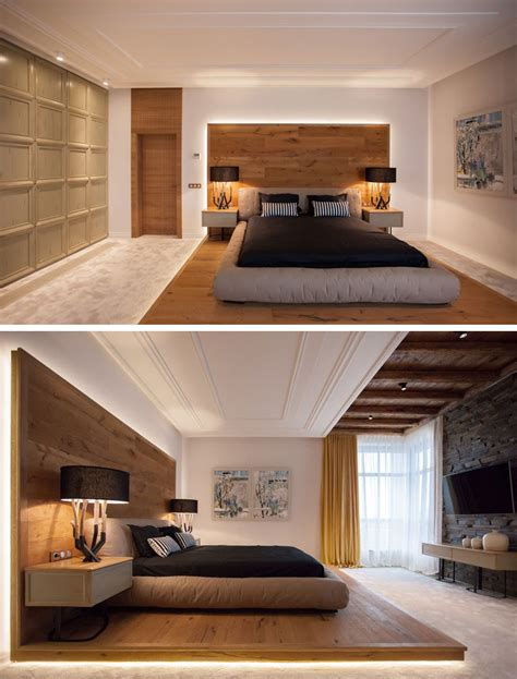 Design Schlafzimmer by This Bed Platform Wraps From The Floor On To The Wall