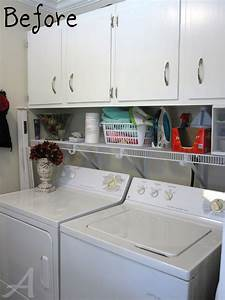 Photos laundry room organization a happy green laundry for Suggested ideas for laundry room design