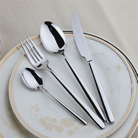 stainless cutlery steel sets forks flatware silverware spoons knives silver dinner polishing pieces dinnerware fork knife kitchen tableware steak mirror