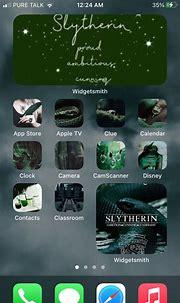 Hogwarts- slytherin themed IOS 14 | Harry potter iphone ...
