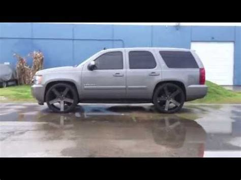 chevy tahoe dropped  dub ballers  maxtrac suspension