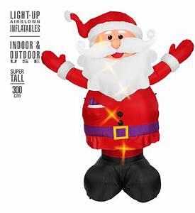 Weihnachtsmann Deko Aussen : aufblasbarer leuchtender weihnachtsmann 300 cm f r innen ~ Orissabook.com Haus und Dekorationen