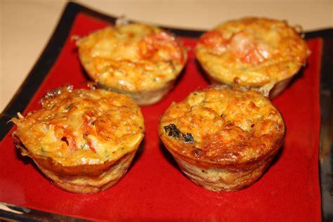 mini quiches sans pate au thon et tomates
