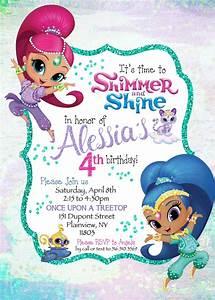 Paperfoxprints, U2014, Shimmer, U0026, Shine, Birthday, Invitation