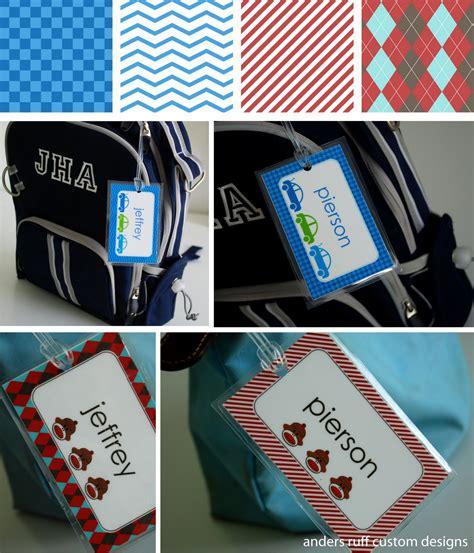 printable diy bag tag template great
