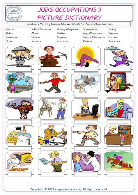 esl games  kids occupations kids matttroy