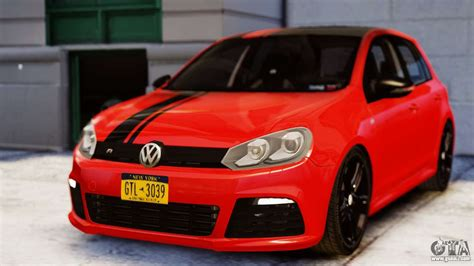 volkswagen golf   racing stripes paintjob  gta