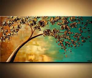 Painting - yellow flowering tree #6696