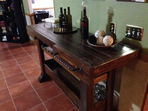 ana white wine console table diy projects