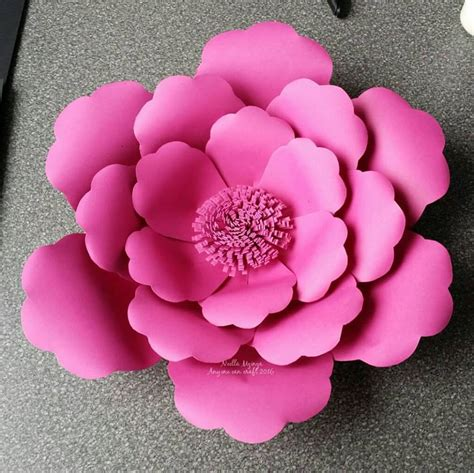 Paper Flower Template Large Flower Petals Anyone Can Craft