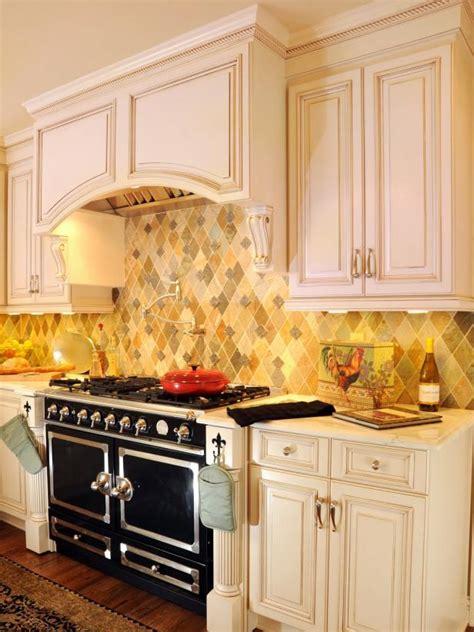 country kitchen backsplash  arched hood hgtv