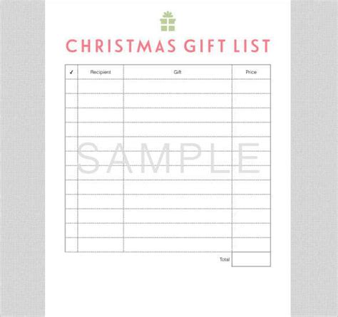 christmas list doc 24 gift list templates free printable word pdf jpeg format free