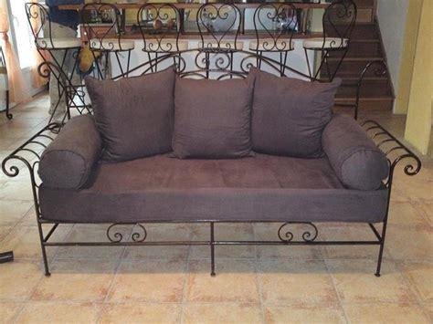 canapé lit en fer forgé canapé en fer forgé sur mesure