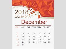 December 2018 Calendar Page