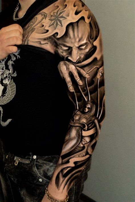arm tattoo tattoos incredible sleeve designs tribal sleeves dark amazing chest random eye
