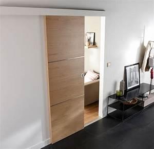 Porte Coulissante D Intérieur : comment poser une porte int rieure coulissante castorama ~ Melissatoandfro.com Idées de Décoration