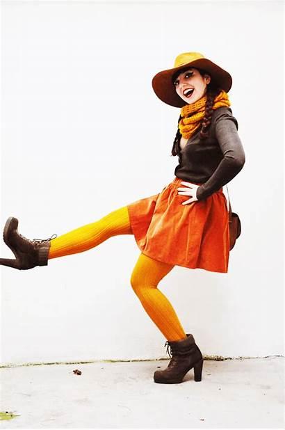 Tights Wear Colored Tip Heels Skirt Wool