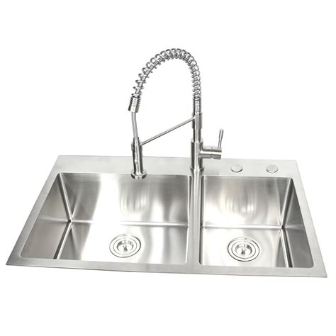 36 inch kitchen sinks 36 inch top mount drop in stainless steel 60 40 3883