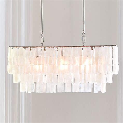 west elm capiz chandelier large rectangle hanging capiz pendant style